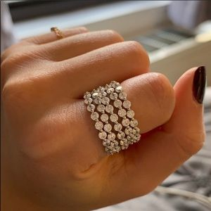 Jewelry - 5 single prong cz rings in multiple sizes
